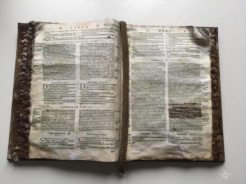 How to fake an old book with an old planner and very few materials · Via www.sweethings.net ·  #fake #bible