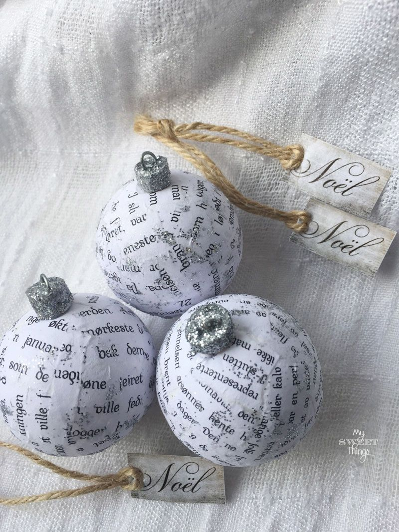 Nordic Ball Ornament · Vintage & Scandi Christmas Tree Ornaments · Via www.sweethings.net