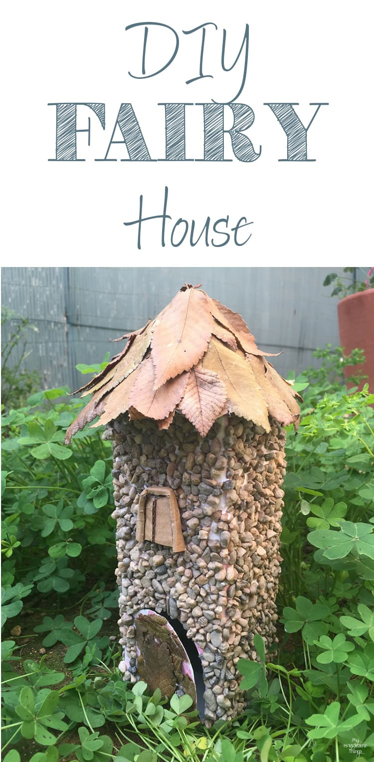 DIY Little fairy house made out of some recycled materials · Via www.sweethings.net