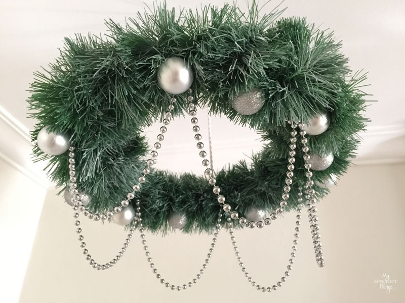 wreath chandelier
