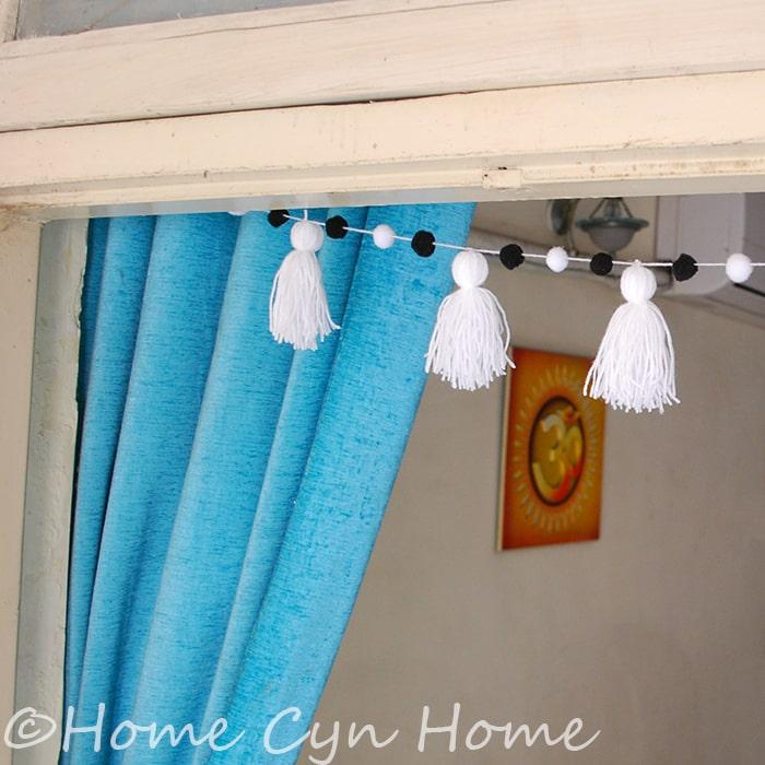 White tassel garland project - DIY craft