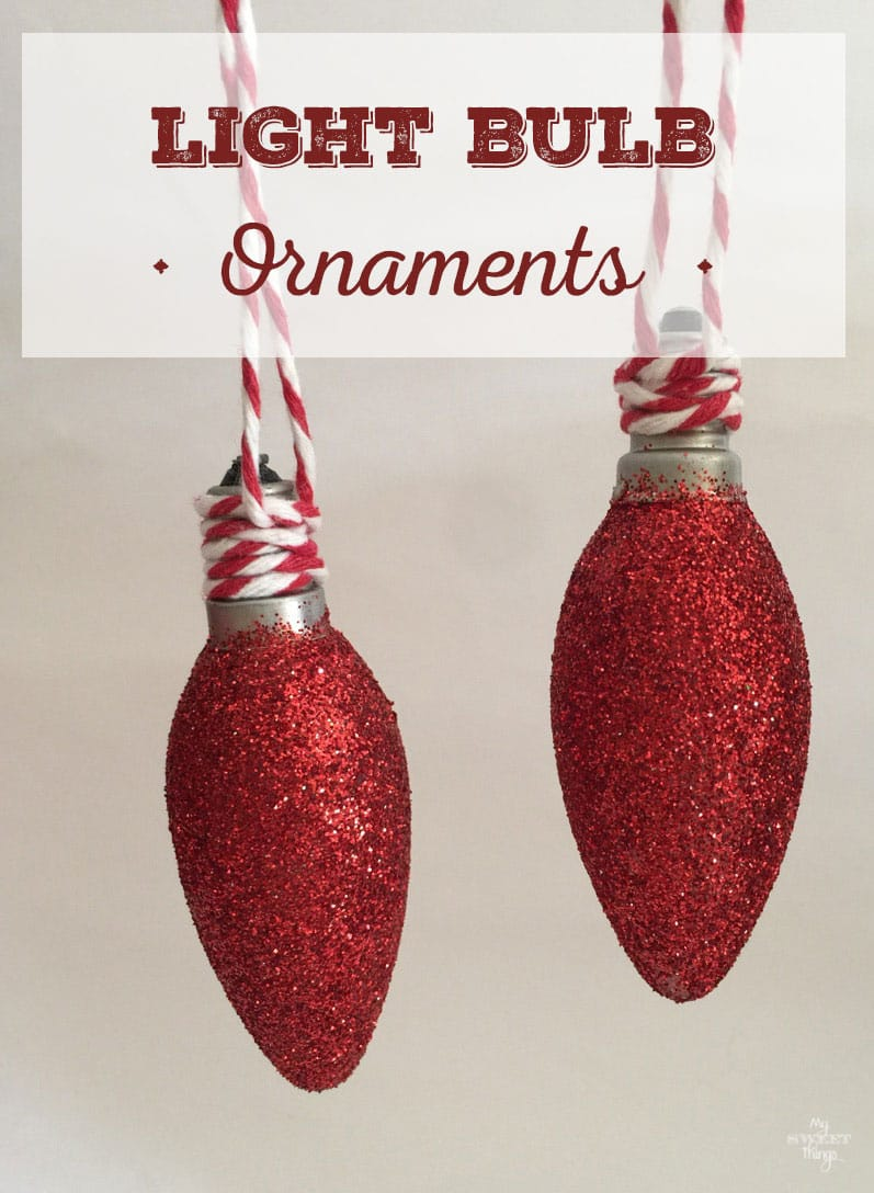 How to make pretty Christmas ornaments out of light bulbs with few supplies