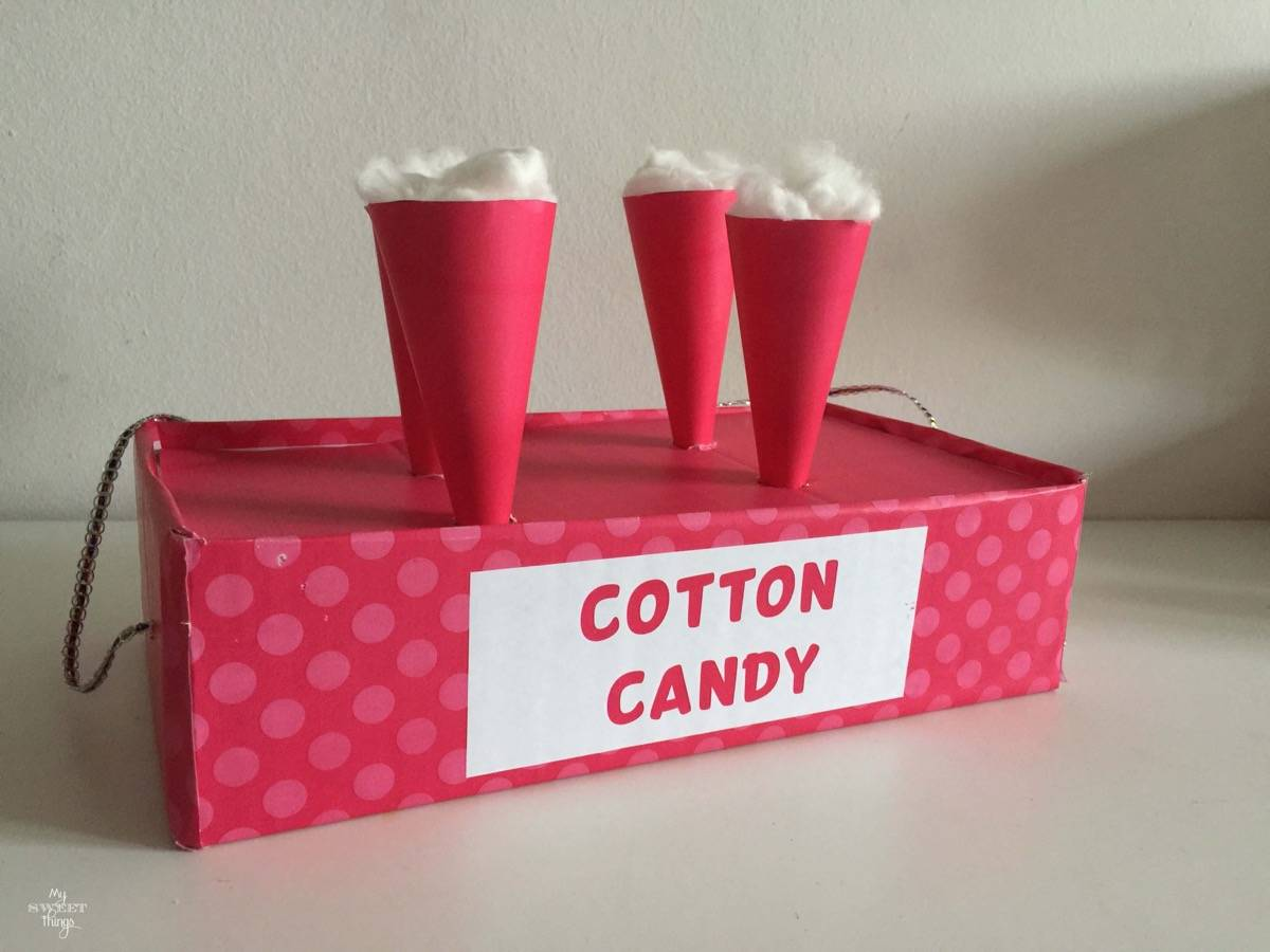 How to make a Cotton Candy Vendor Costume for our Carnival party