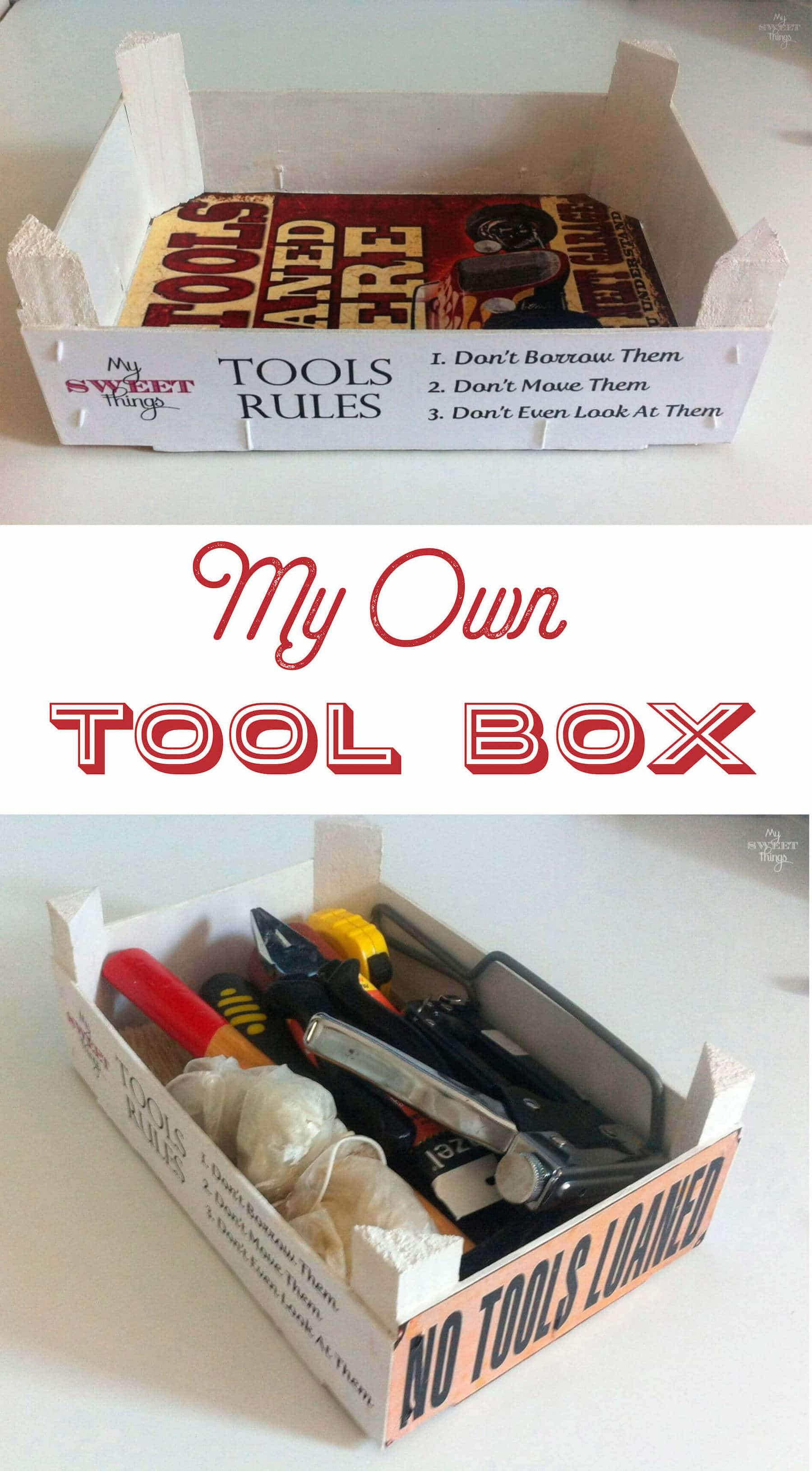 How to make a tool box out of a crate | Via www.sweethings.net