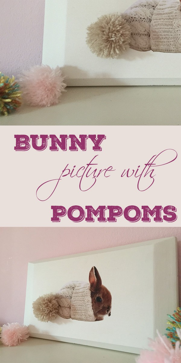 Bunny Picture With Pompoms
