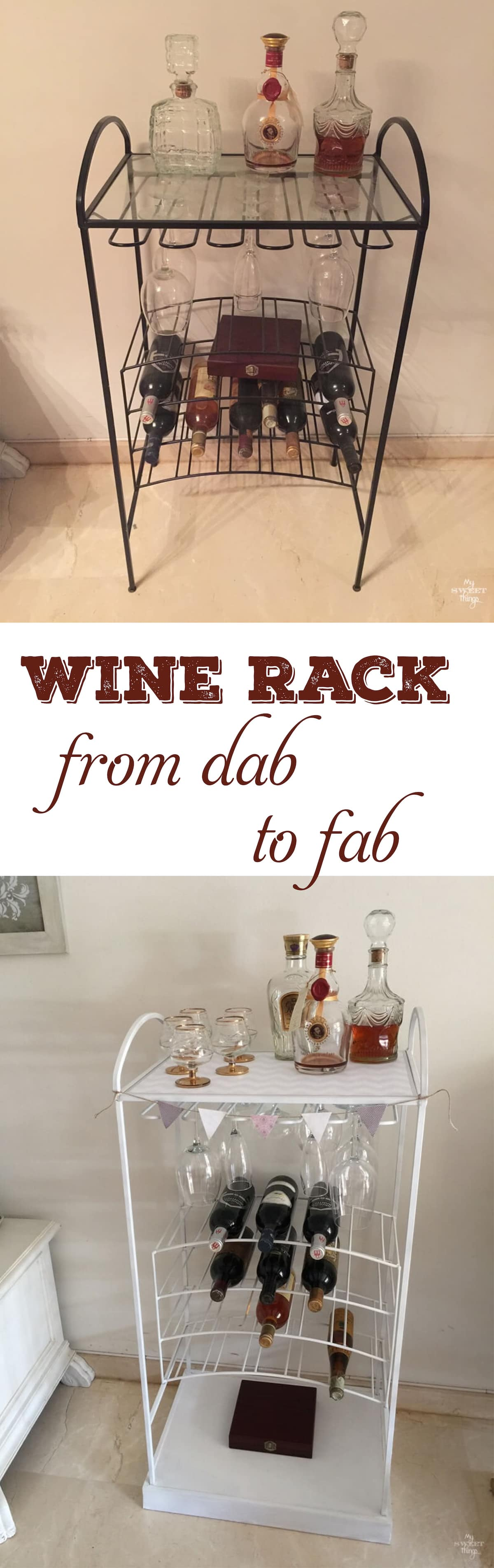 How this wine rack went from dab to fab