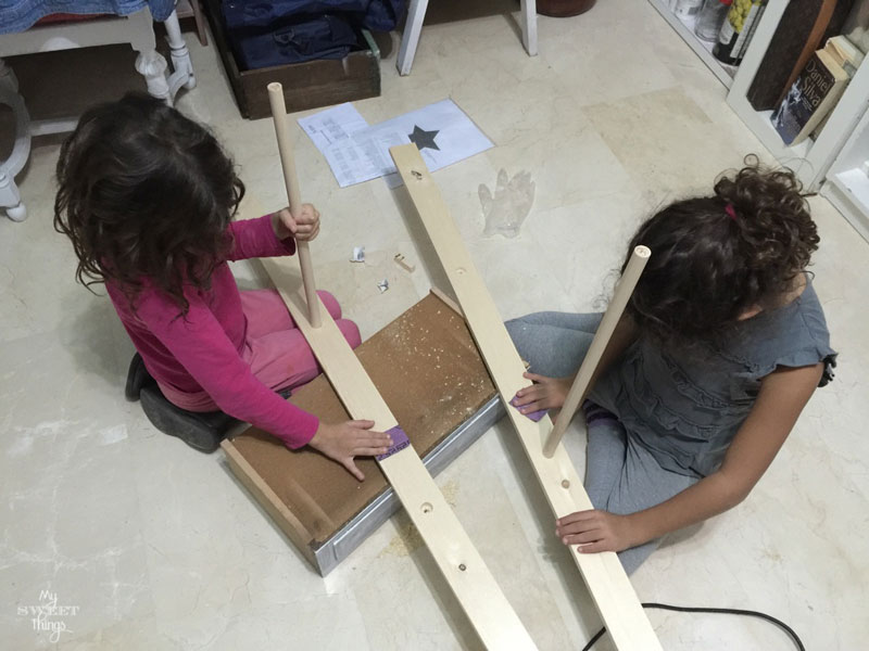 Como hacer una escalera decorativa de forma fácil con unos listones de madera · My Sweet Things