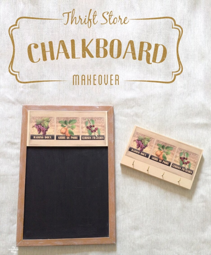Thrift Store Chalkboard Makeover - Spring 2016 Thrift Store Upcycle