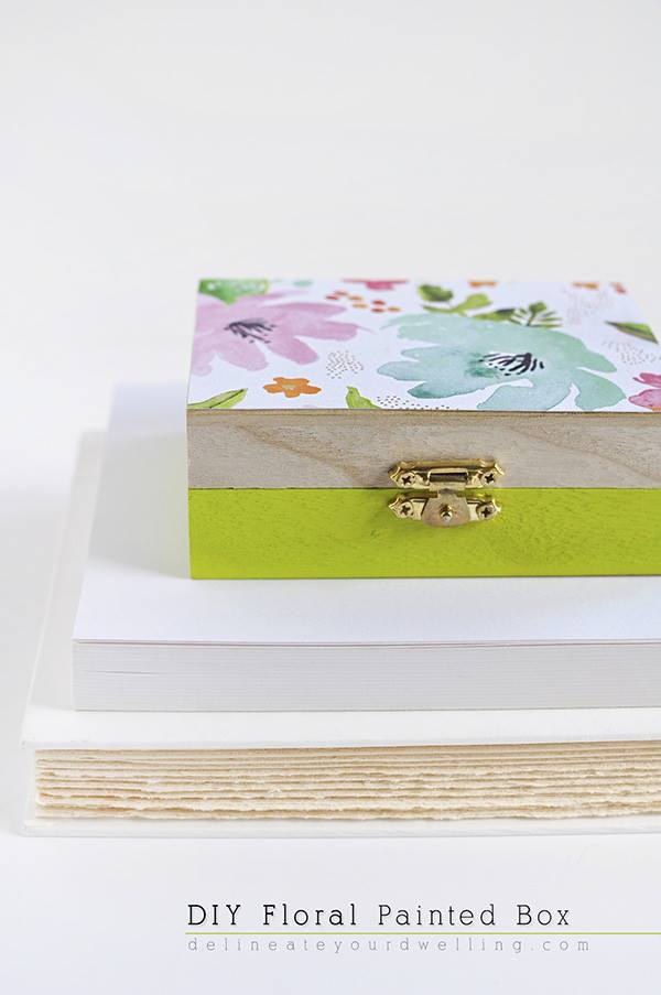 DIY Floral painted box