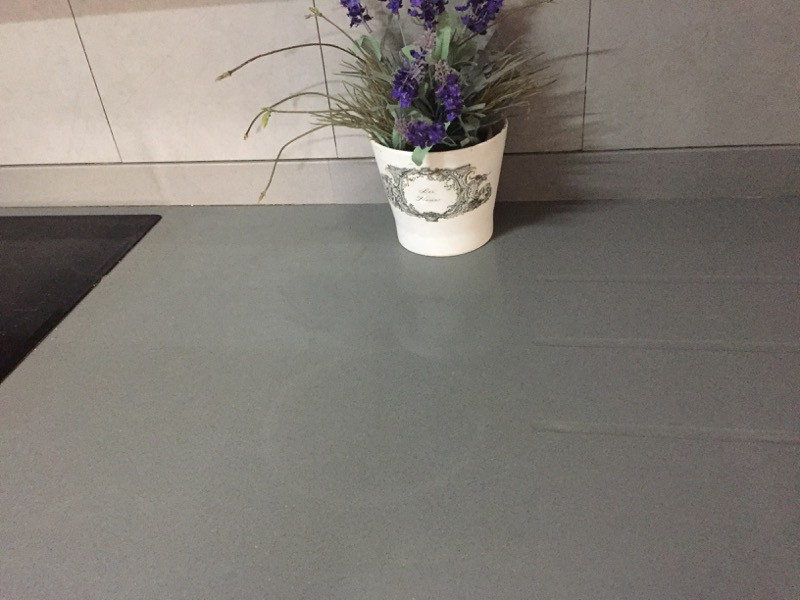Countertop with white round mark   My Sweet Things
