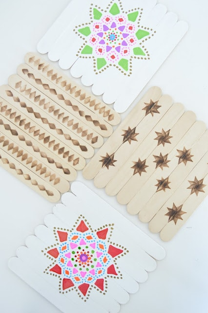 popsicle sticks coasters