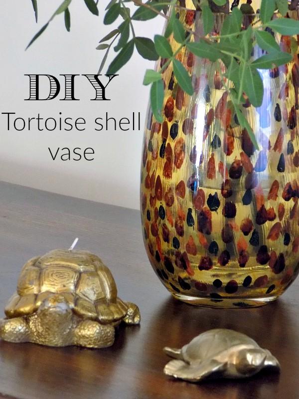 DIY Tortoise Shell Vase