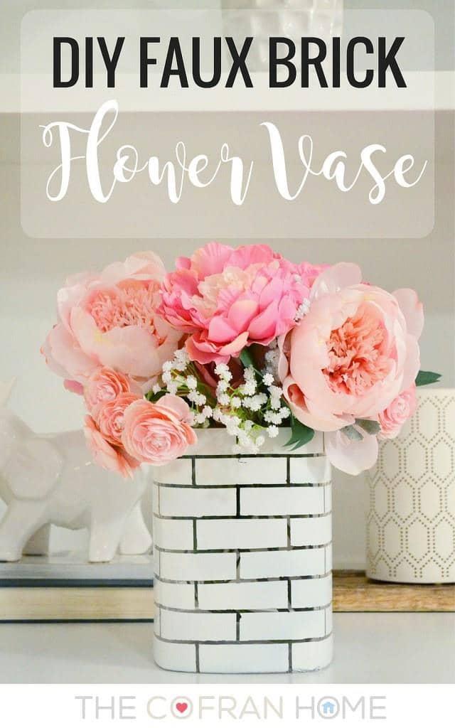 Faux Brick Flower Vase