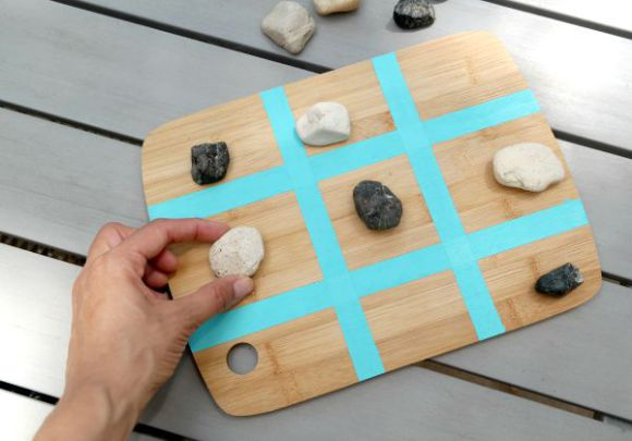 How to make a tic tac toe game out of an old cutting board
