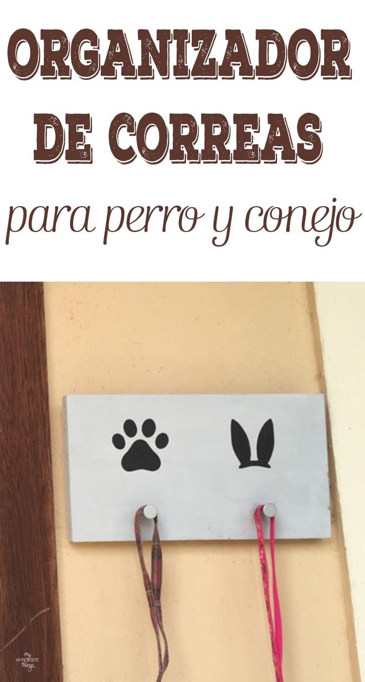 Organizador de correas para perro y conejo · Via www.sweethings.net