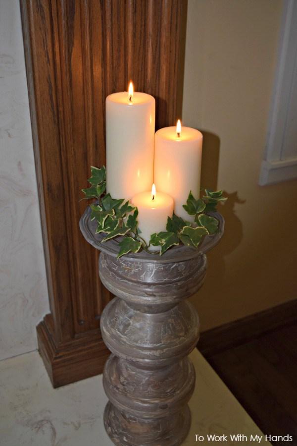 diy-wood-pillar-candle-stand