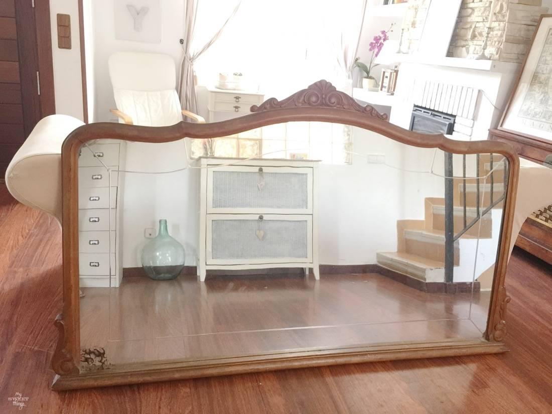 Como hacer una pizarra a partir de un espejo antiguo my for Cuanto cuesta un espejo