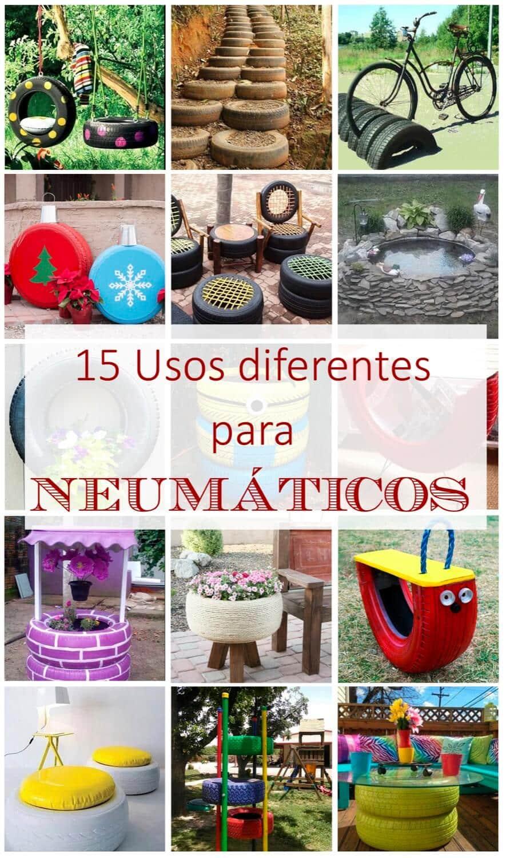 15 usos diferentes para neumaticos  · Ideas sencillas para reciclar neumáticos viejos  · Via www.sweethings.net