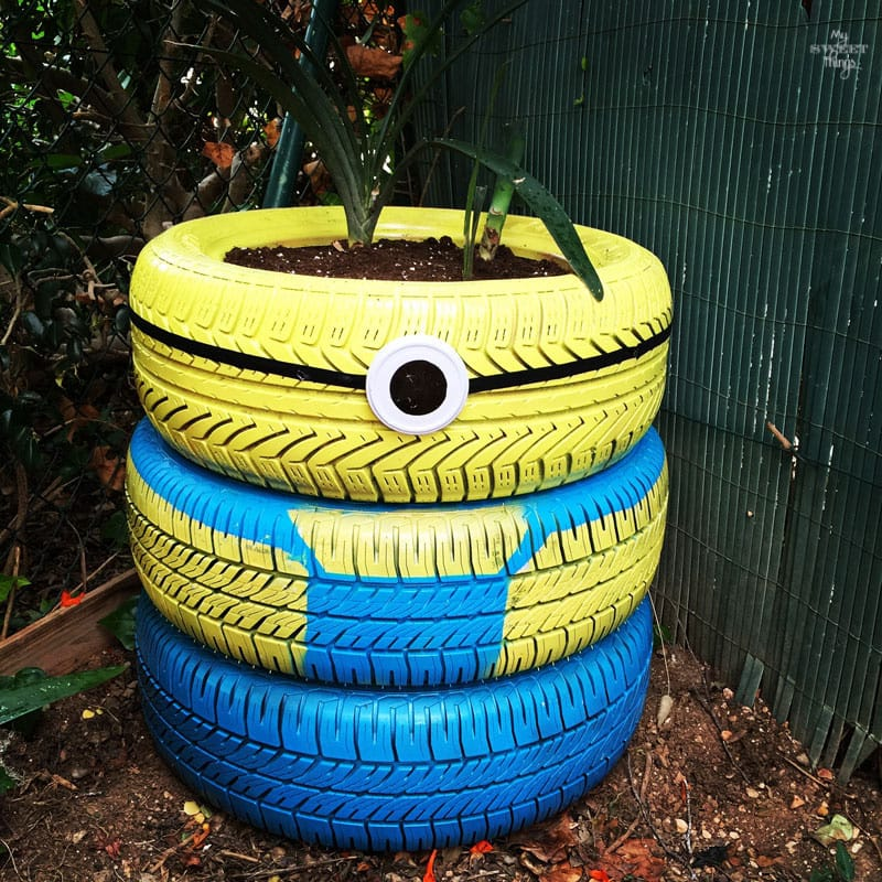 Minion Planter · 15 Different Uses For Tires · Some easy ideas to recycle old tires · Via www.sweethings.net