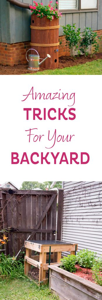 Amazing tricks for your backyard  ·  Modernize your backyard is not as difficult as it may sound. I am sharing some tips with are budget-friendly and eco-friendly too   ·   Via www.sweethings.net