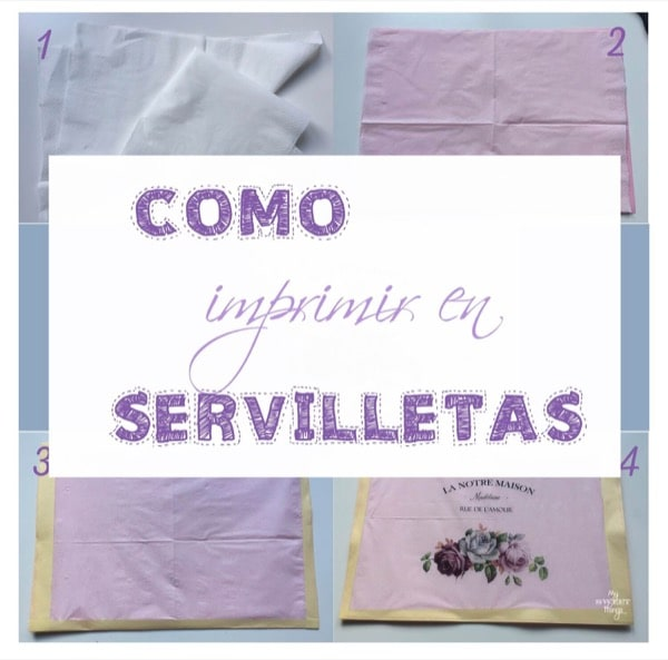 Cómo imprimir en servilletas · Via www.sweethings.net