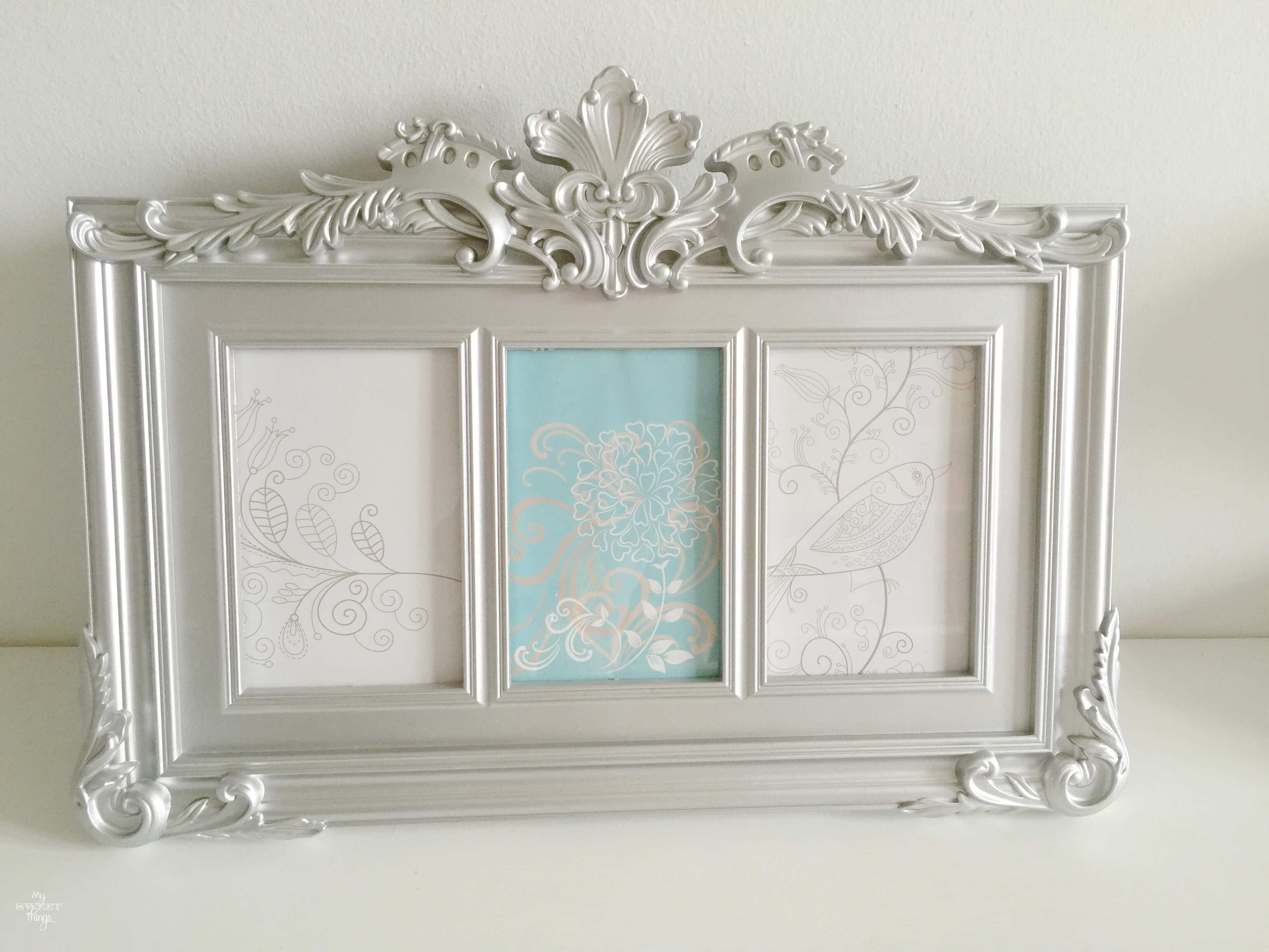 How to update a plastic picture frame with some paint, the before · Via sweethings.net