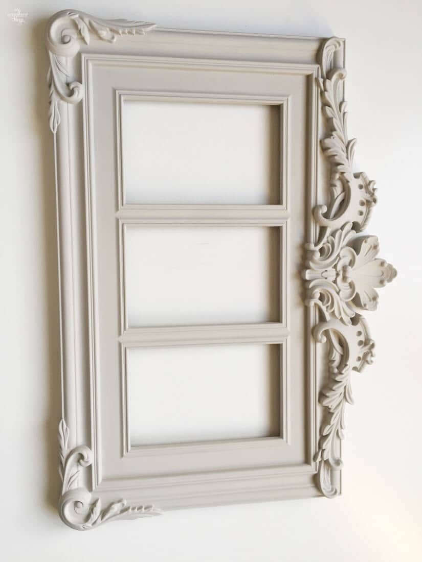 How to update a plastic picture frame with some paint, the process · Via sweethings.net