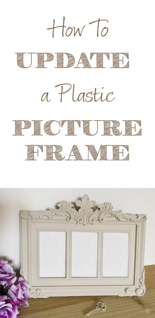 How to update a plastic picture frame with some paint · Via sweethings.net