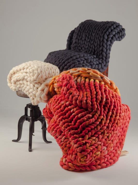 Unique Handmade Artisan Goods · Chunky wool blanket · Via www.sweethings.net