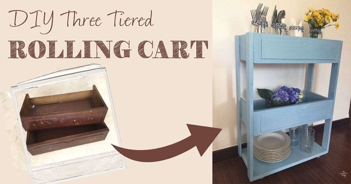 Diy Three Tiered Rolling Cart Out Of Free Finds 183 My Sweet