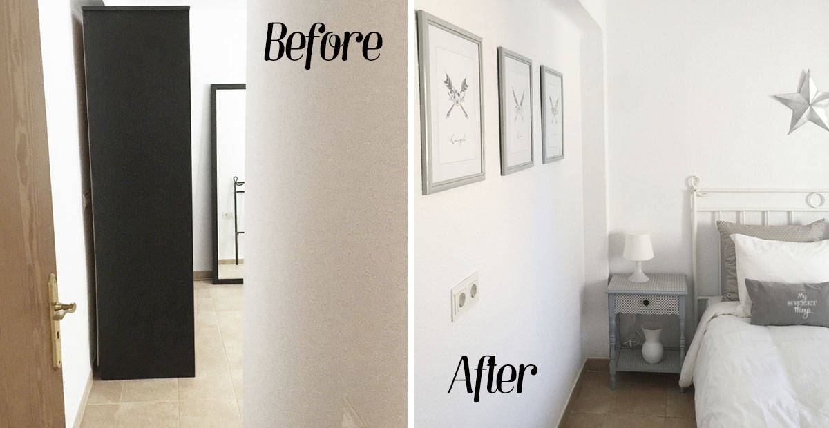Bedroom makeover on a budget · Via www.sweethings.net