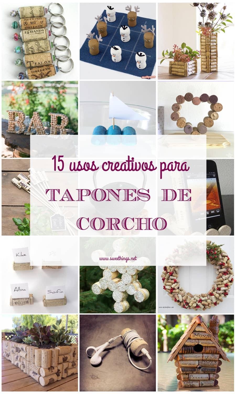 15 usos creativos para tapones de corcho · Via sweethings.net