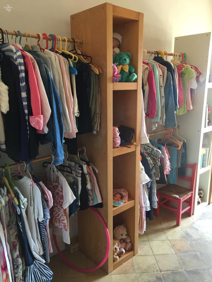 DIY Open Style Closet For Kids With Ikea Shelves And Rods · Via  Www.sweethings