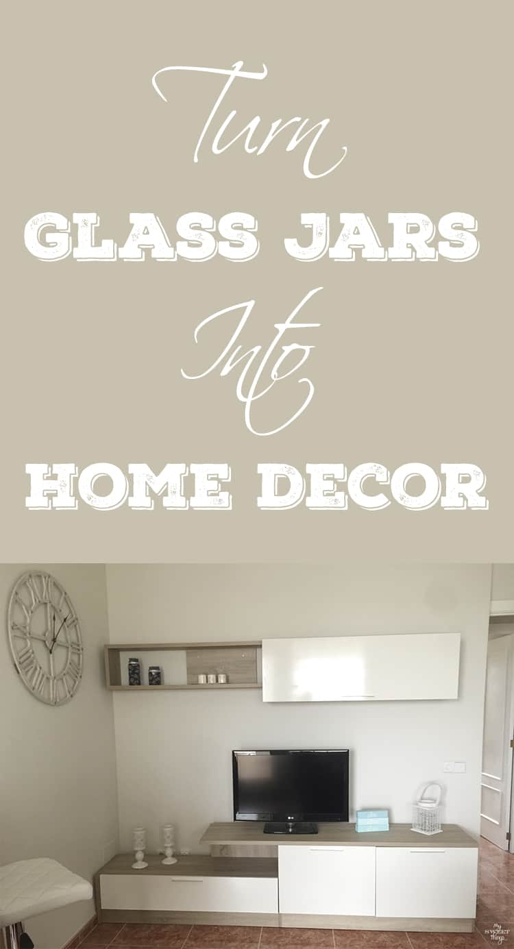 Glass jars used as home decor  ·  Via www.sweethings.net