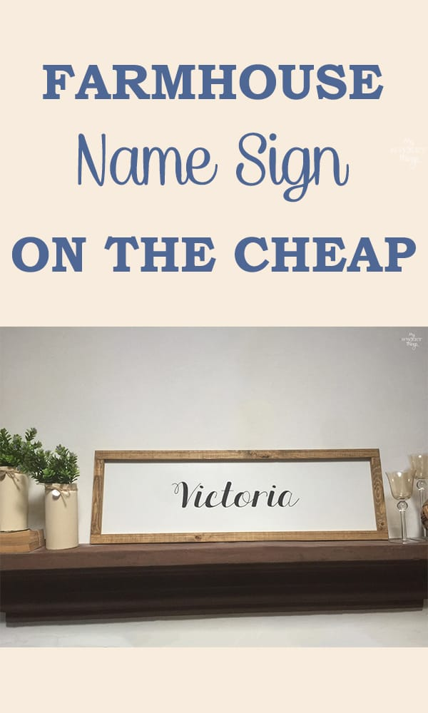Farmhouse custom name sign · Via www.sweethings.net