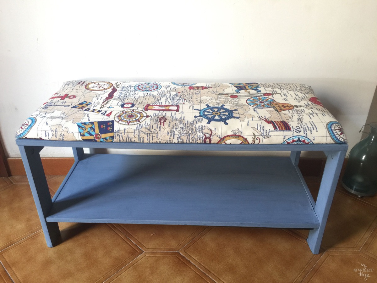 Etonnant Nautical Upholstered Bench Coffee Table With Old Fashioned Milk Paint In  Soldier Blue · Via Www