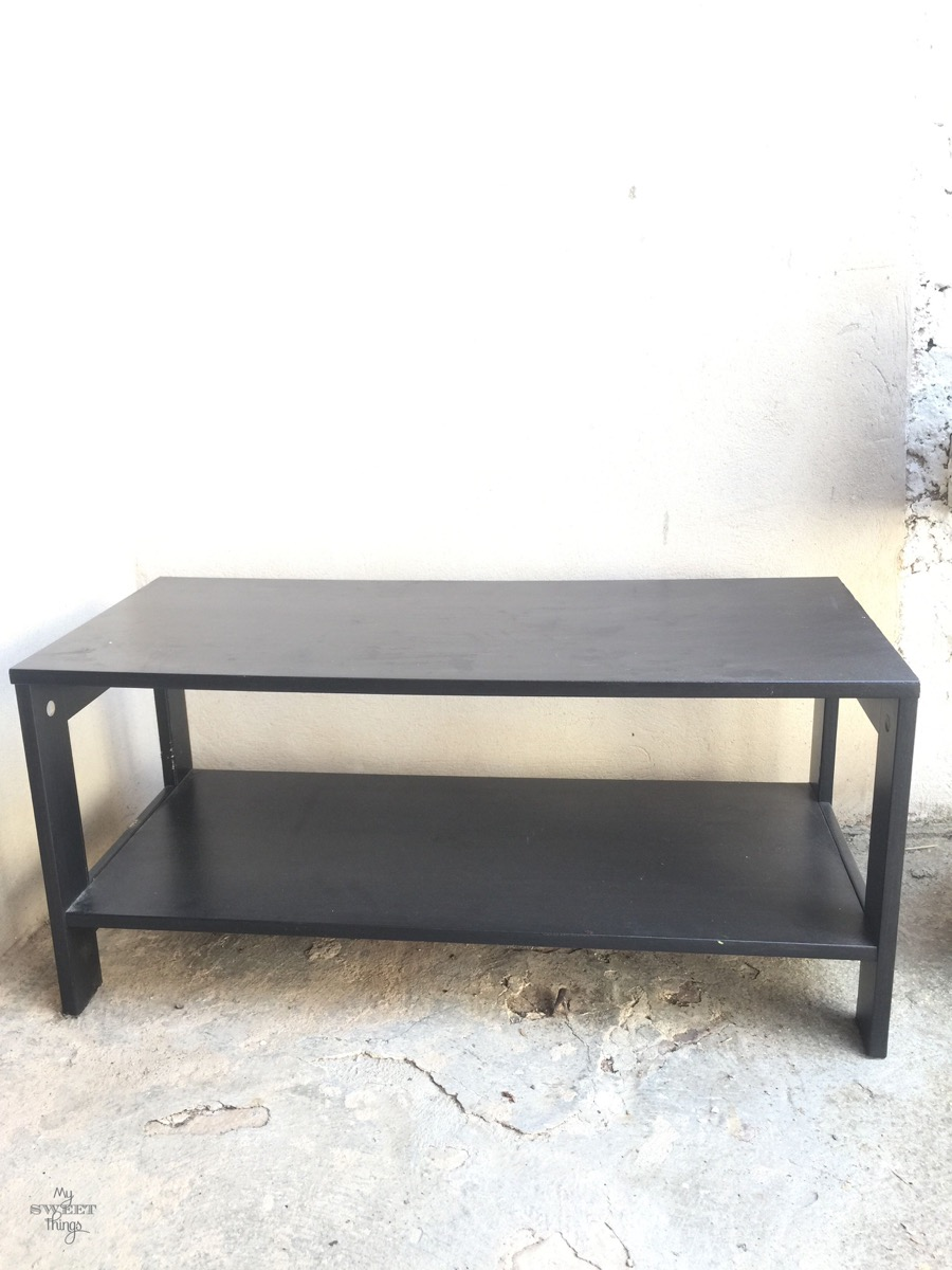 Nautical Upholstered Bench Coffee Table