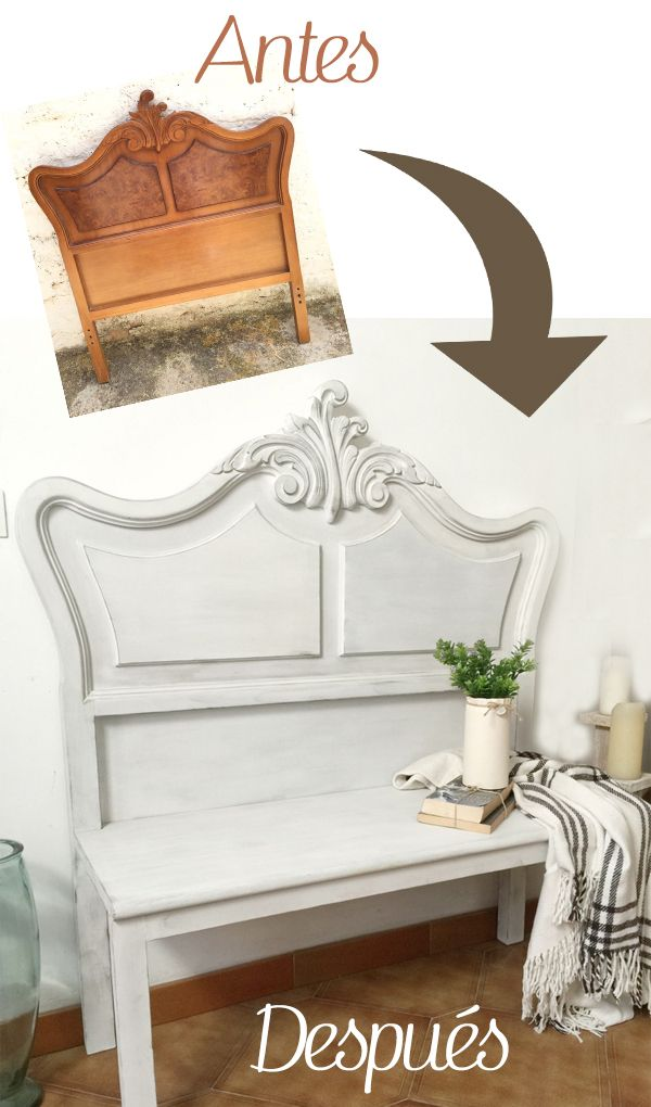 Tutorial banco recibidor estilo vintage · Via www.sweethings.net #banco #recibidor #vintage #shabbychic