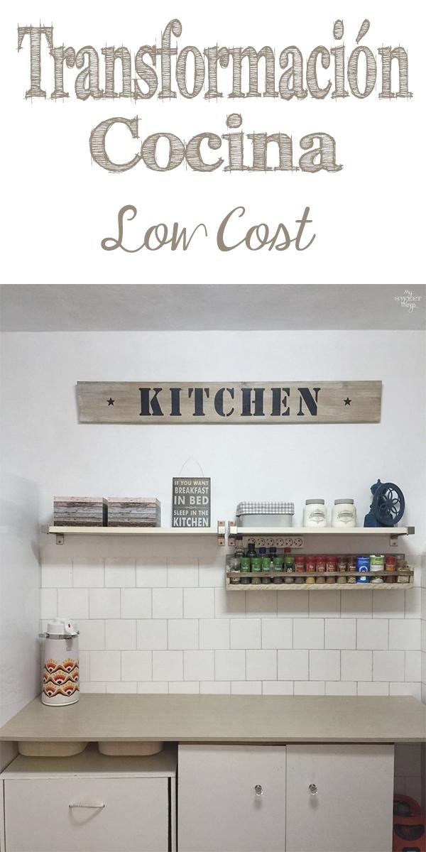 Como renovar cocina sin obras de forma fácil · Via www.sweethings.net #renovar #cocina #lowcost #tuneo #transformacion