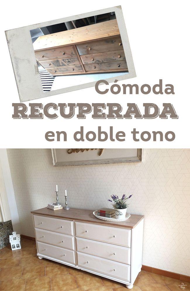 Cómoda recuperada en doble tono · Via sweethings.net
