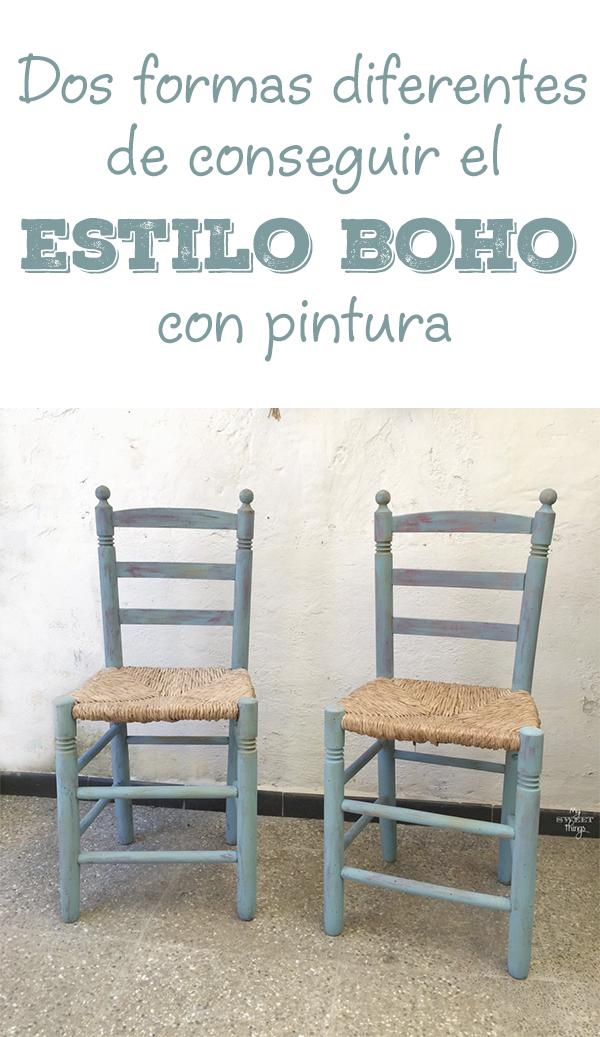 Dos formas de conseguir el estilo boho con pintura · Via www.sweethings.net