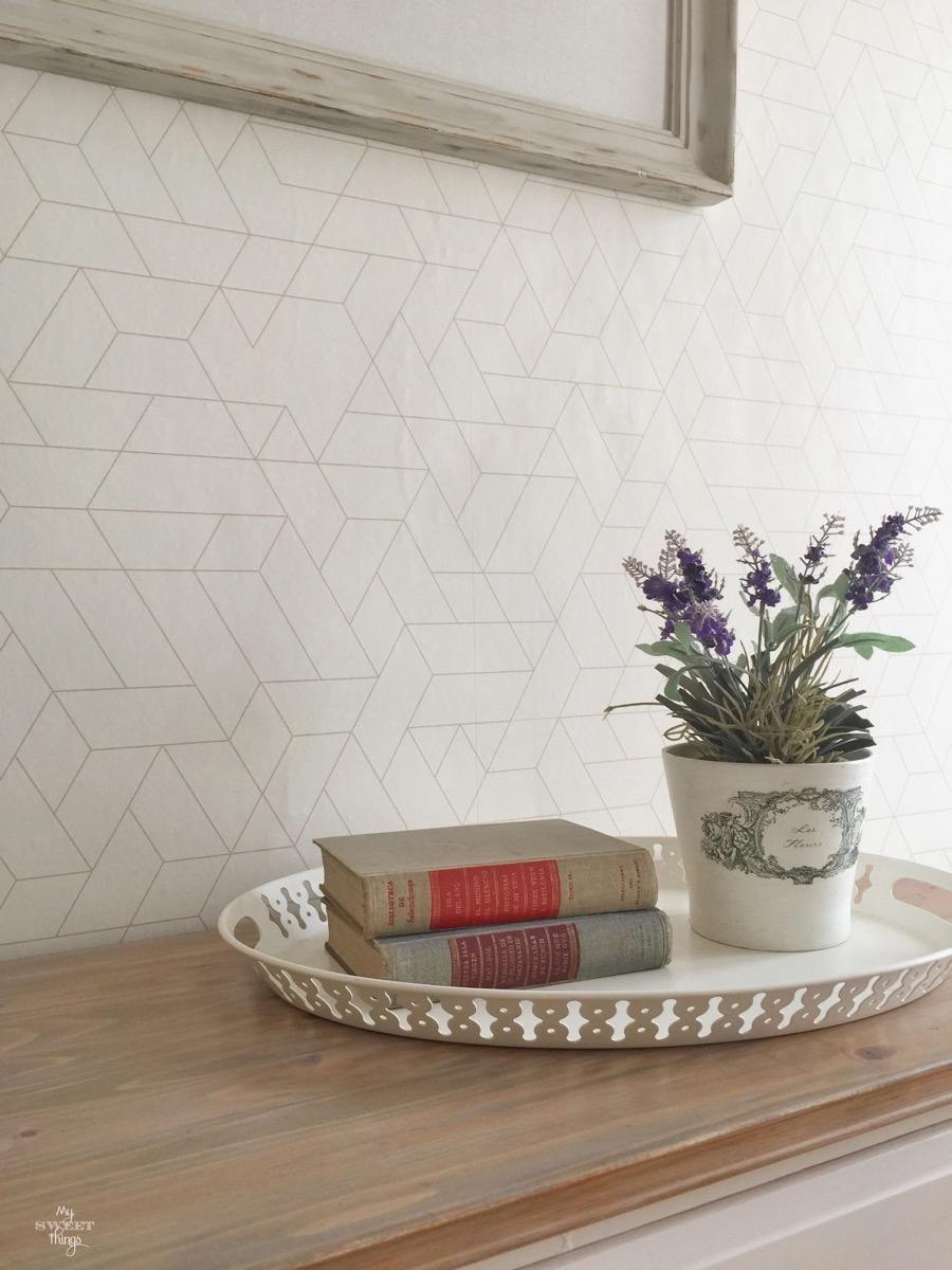 How to wallpaper walls easily · Via www.sweethings.net