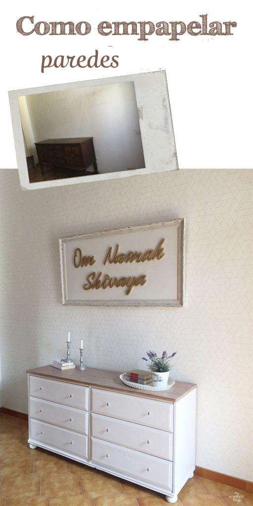 Como empapelar paredes fácilmente · Via www.sweethings.net