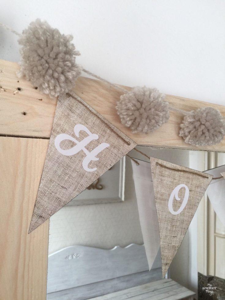 Decoración low cost - banderines decorativos de papel