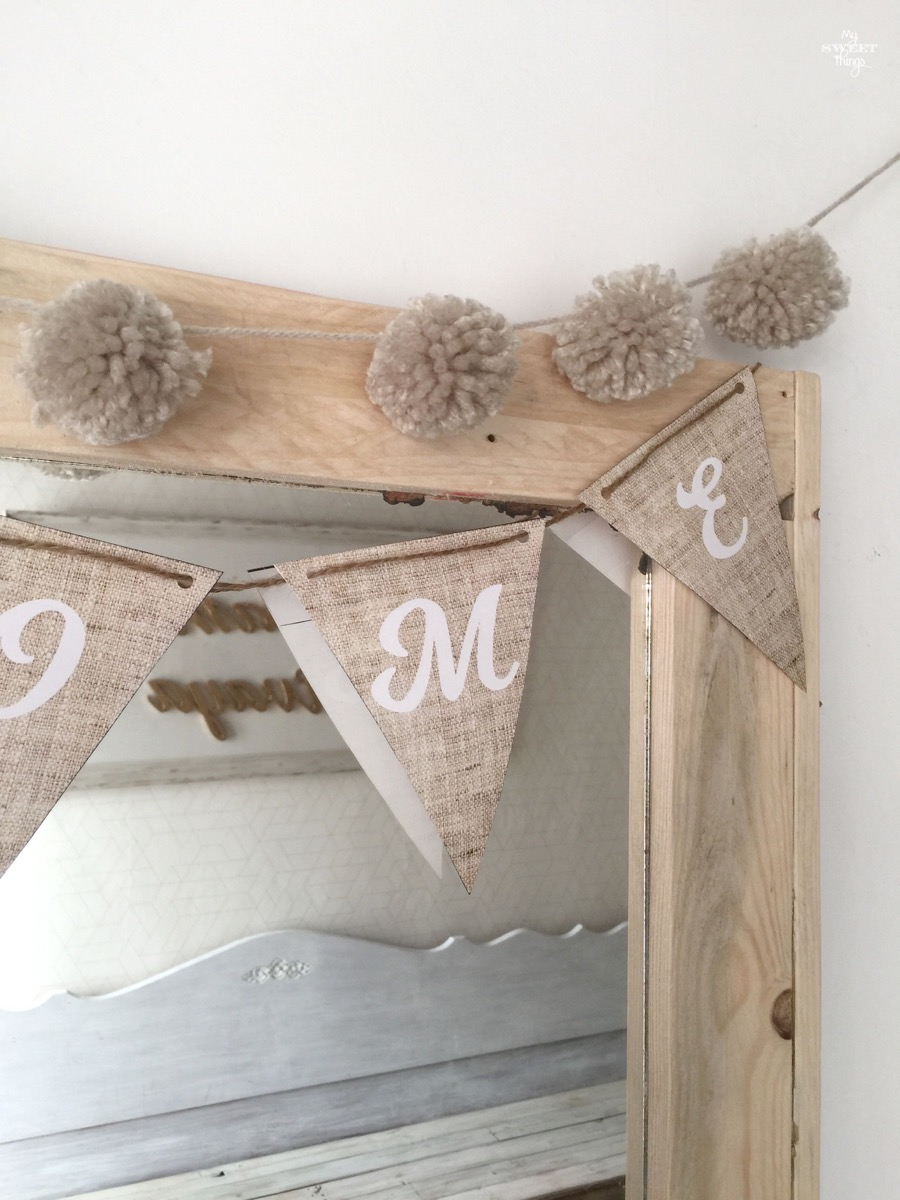 Home Decor - Paper Pennant Banner Garland · Via www.sweethings.net
