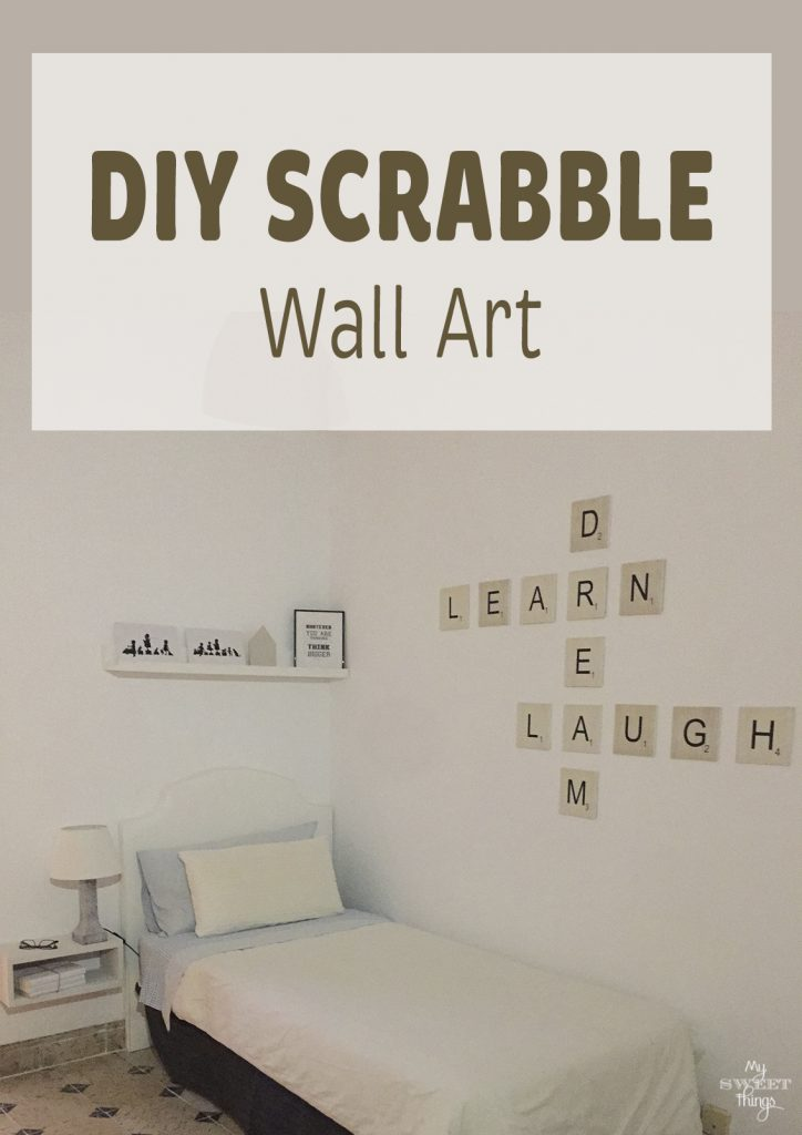 How to make a DIY Scrabble wall art · Via www.sweethings.net