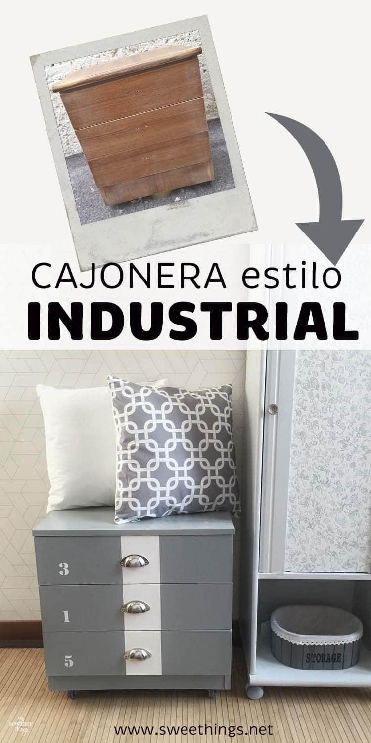 Cajonera estilo industrial · Tuneo Ikea Tarva · Via www.sweethings.net