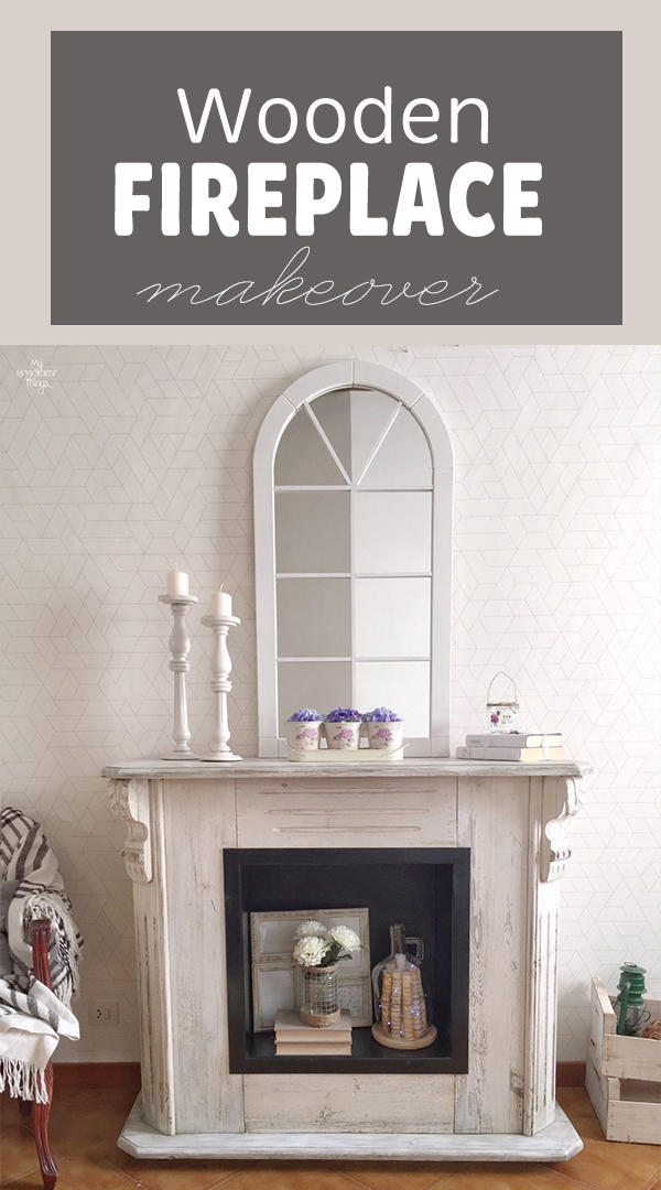 How to update an old wooden fireplace · Fireplace makeover · Via www.sweethings.net
