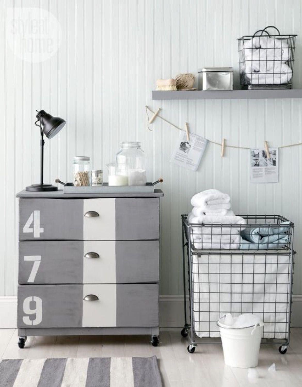 Industrial Style Dresser Makeover Tarva Ikea Hack Inspired · Via www.sweethings.net