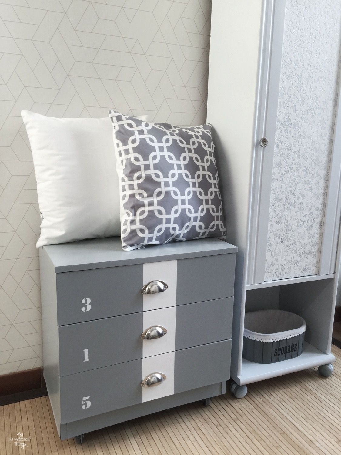 Industrial Style Dresser Makeover Tarva Ikea Hack Inspired My Sweet Things